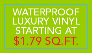 Waterproof luxury vinyl starting at $1.79 sq.ft. during the Summer Sale at Flooring USA in Stuart!
